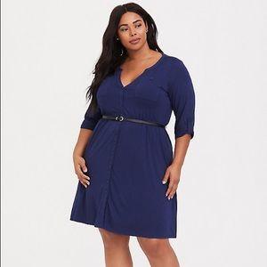 Torrid Button Front Knit Dress Size 1X